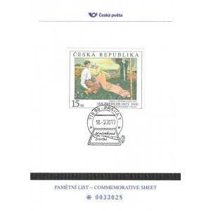 PLZ 15 - 140. výročí narození malíře Jana Preislera (18. 2. 1872)