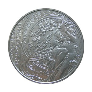 200 Kč - 150. výročí narození Alfonse Muchy - běžná kvalita (bk)