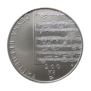 200 Kč - 150. výročí narození Gustava Mahlera - špičková kvalita (proof)
