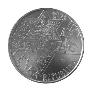 200 Kč - 400. výročí úmrtí Rabiho Jehudy Löwa - špičková kvalita (proof)