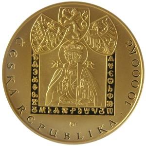 10 000 Kč Konstantin a Metoděj - Špičková kvalita (proof)