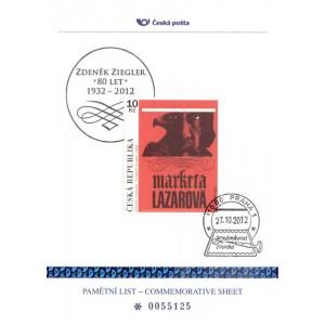 PLZ 25 -  Zdeněk Ziegler - 80. výročí narození (27. 10. 1932)