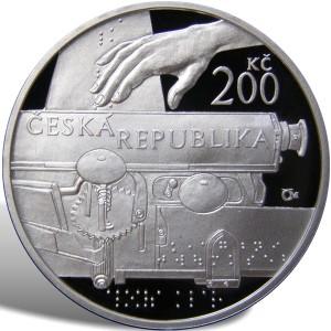 200 Kč Aloys Klar - špičková kvalita (proof)