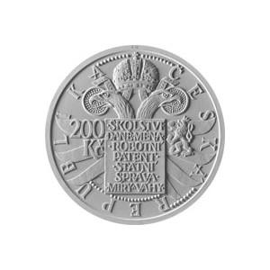 200 Kč Marie Terezie - špičková kvalita (proof)