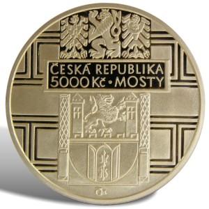 5 000 Kč Renesanční most ve Stříbře - Špičková kvalita (proof)