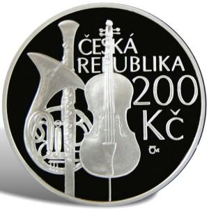 200 Kč Zahájení výuky na pražské konzervatoři - špičková kvalita (proof)