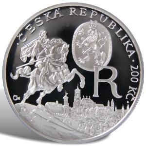 200 Kč Rudolf II.  - špičková kvalita (proof)