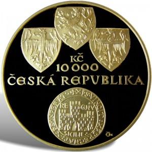 10 000 Kč Zlatá bula sicilská - Špičková kvalita (proof)